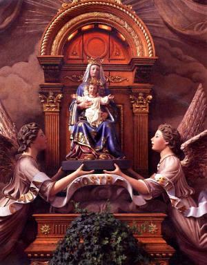 Les cendres de la statue de Notre-Dame-de-Liesse Image