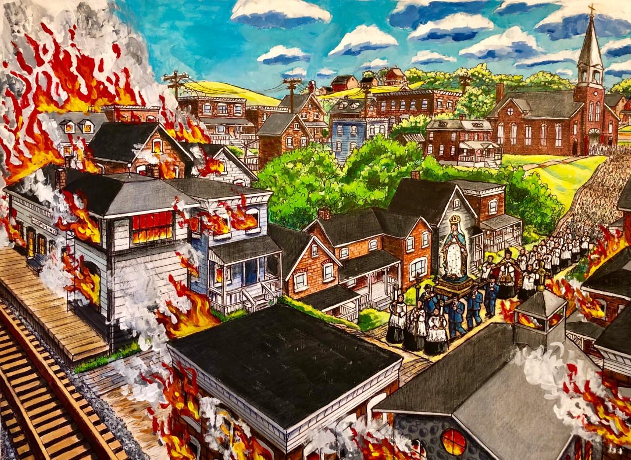 Notre-Dame-du-Rosaire détourne le feu Image