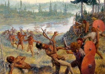 Conflit entre les vikings et les autochtones