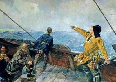 Leif Eriksson découvre l'Amérique