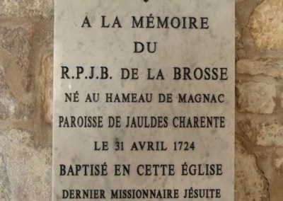Tombeau du Père Jean-Baptiste de la Brosse
