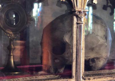 Moitié du crâne de Saint Jean de Brébeuf, à Midland