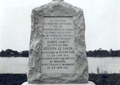 Monument au 3e centenaire de la première messe sur l'Île de Montreal