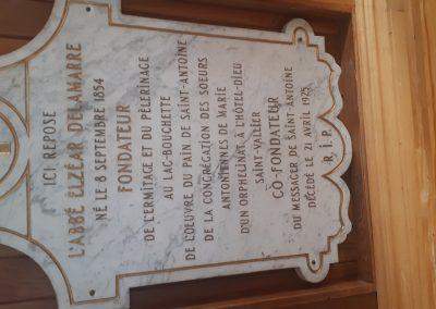 Lieu d'inhumation de l'abbé Elzéar Delamarre