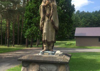 Statue de Sainte Kateri à Auriesville, New-York