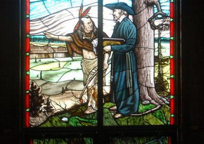 Vitrail de Joseph et Père de Brébeuf, Midland, Ontario