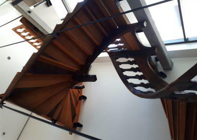 Escalier de l'Hôtel-Dieu de Laflèche en France, qui fut donné au musée à Montréal