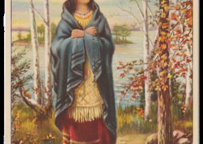 Image de Ste Kateri à partir du portrait de Cecilia Jacobs de Kahnawake