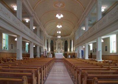 Intérieur de l'église Saint-Damien
