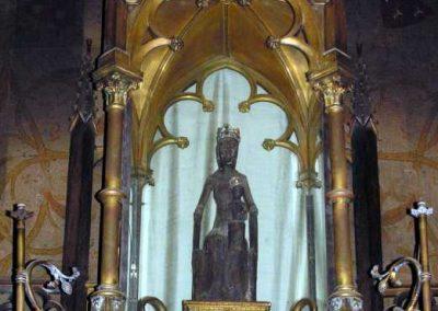 La statue originale de Notre-Dame-de-Rocamadour