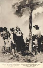 Marguerite Bourgeoys fait restaurer la croix du Mont-Royal