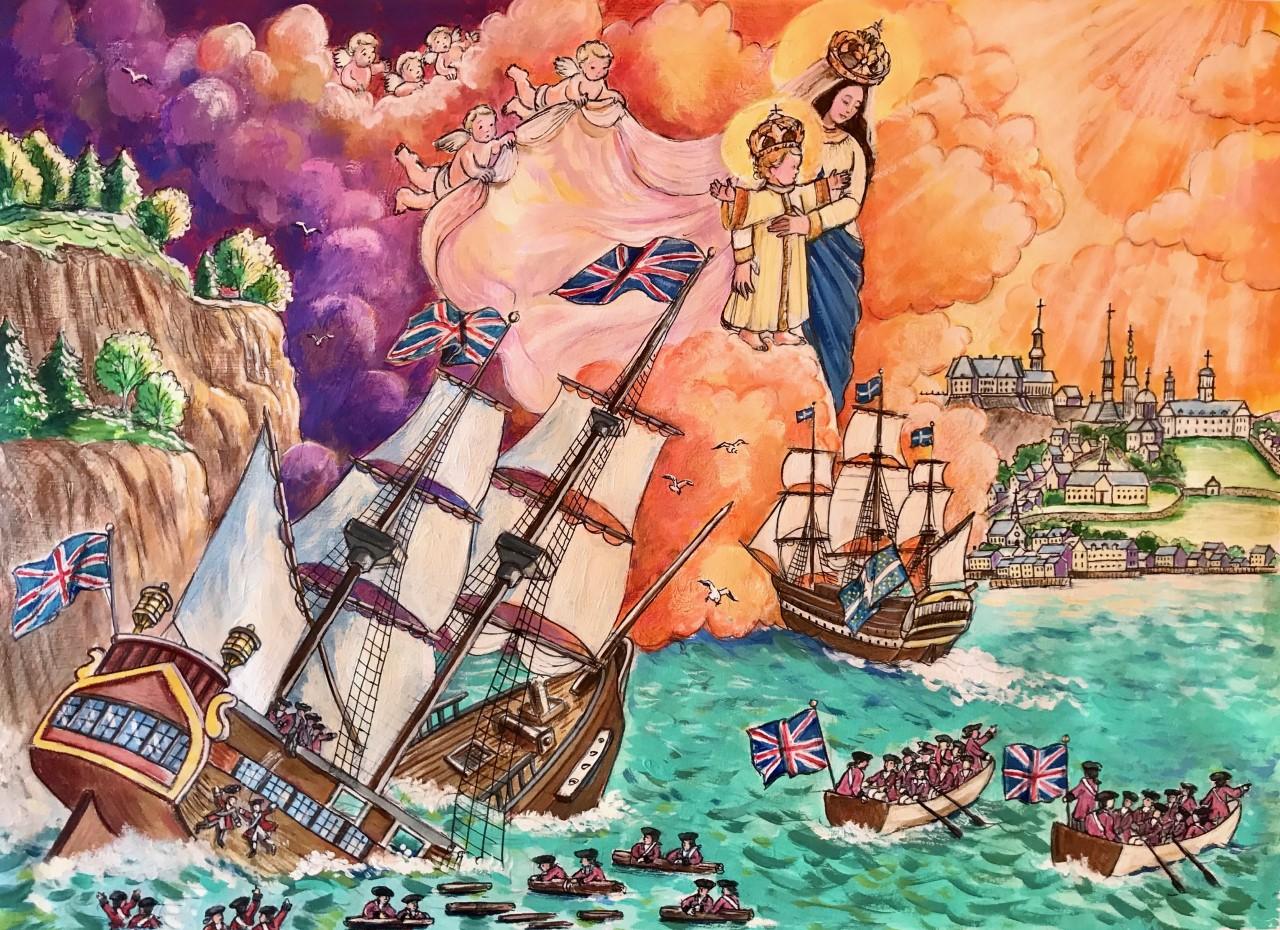 Protestant ships drifting away Image