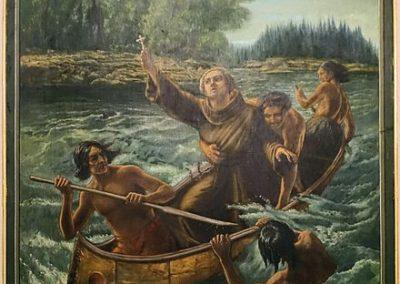 Tableau de Nicolas Viel et Ahunthic dans la cathédrale de Montréal