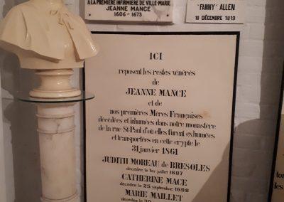 Tombeau de Jeanne Mance, crypte de l'Hôtel-Dieu de Montréal