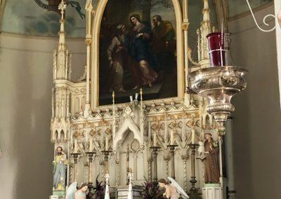 intérieur de l'église de l'île-Dupas