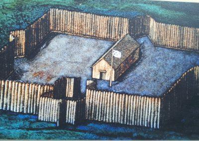 Fort Chambly à l'époque de Saint Isaac Jogues