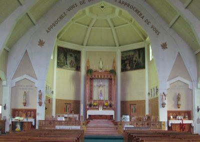 Intérieur de la troisième église