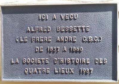 Plaque à St-Césaire, Québec