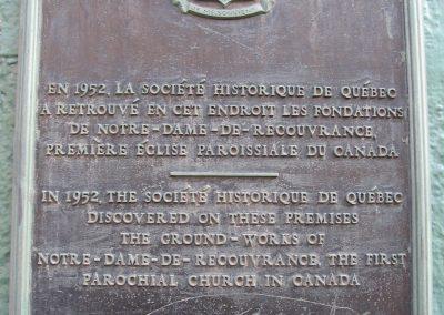 Plaque sur la rue Buade, Vieux-Québec