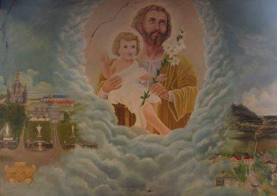 Saint Joseph et Notre-Dame-des-Bois, peinture dans la sacristie
