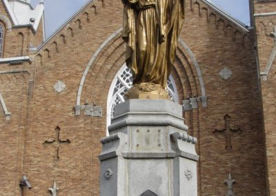 Statue du Sacré-Coeur à Lac-Mégantic
