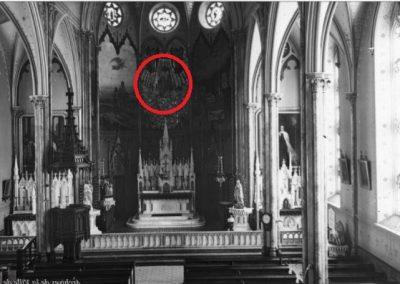 Endroit où se trouvait autrefois la statue miraculée de Saint Joseph