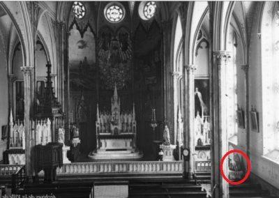 Endroit où se trouvait la statue miraculeuse de Notre-Dame-de-Pitié