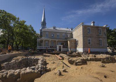 Ruines de l'ancienne mission du Père Chaumonot à l'Ancienne-Lorette