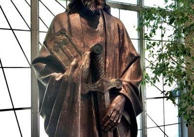 Statue de Saint Paul installée dans la nouvelle église
