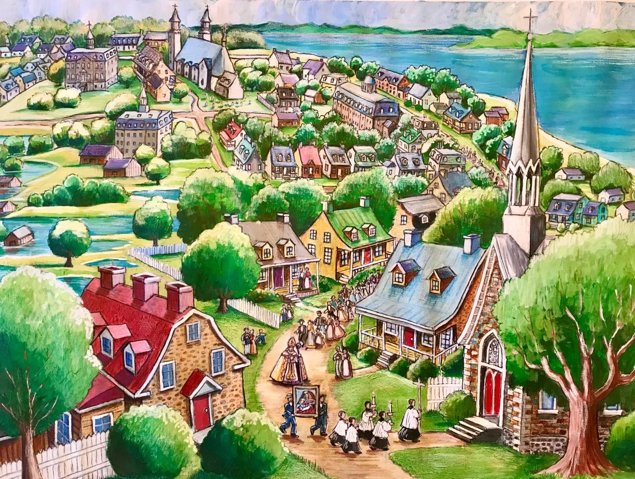 Un tableau miraculeux de Sainte Anne Image